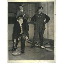 1937 Press Photo The Sport Called Curling