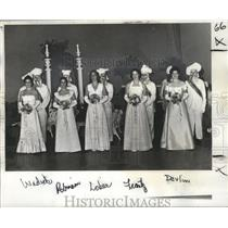 1978 Press Photo Court of Twelfth Night Revelers, Mardi Gras, New Orleans