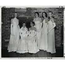 1977 Press Photo Krewe of Mithras Court, Mardi Gras Carnival - noca01586