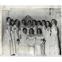 1973 Press Photo Maids in Court of High Priest of Mithras for Carnival Ball;
