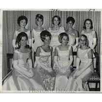 1967 Press Photo  Mithras Carnival Ball Ladies in Waiting, Mardi Gras