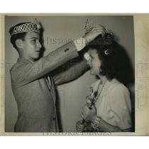 1948 Press Photo Carnival Royalty- King and Queen of Krewe of Nor. - noca01836
