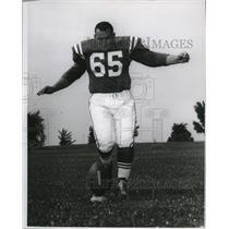 1961 Press Photo Steve Myhra- Baltimore Colts
