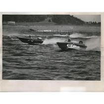 1968 Press Photo Water was rough for the Milwaukee-Chicago_Milwaukee boat races.