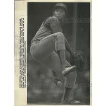 1971 Press Photo Vida Blue, 21 year old Oakland A's pitching sensation/