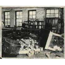 1931 Press Photo Prison riot caused wreckage of Illinois prison at Joliet