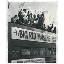 1975 Press Photo Football State Champion Deerfield