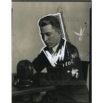 1925 Press Photo C.W. Kirby Announcer for Detroit News - nef25405