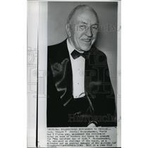 1963 Wire Photo Capt Eddie Rickenbacker, Eastern Airline founder- Retiring