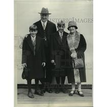 1928 Press Photo William Randolph Hearst and his two sons return from abroad
