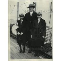 1928 Press Photo William Randolph Hearst and his sons return from abroad