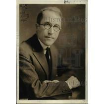 1923 Press Photo William Philip Simms, Editor - nef30266