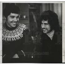 1973 Press Photo Dan Winkler former high school wrestler and Joe harper
