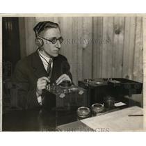 1927 Press Photo Edwin Beane Federal Supervisor for 9th Radio District