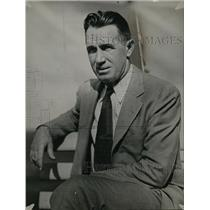 1933 Press Photo Portrait Of Duke Coach Wallace Wade - net22703