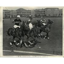 1936 Press Photo William Wood,Julian Peabody of Princeton vs Army's Bruce Palmer