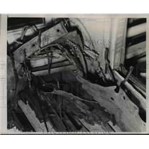 "1937 Press Photo ""President Hoover"" Liner War Bombed Dropped on Deck - nef14469"