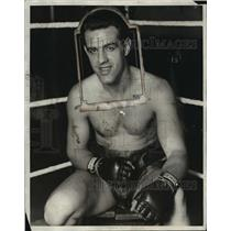 1928 Press Photo Boxer Otto Van Porst at training in a gym - net27191
