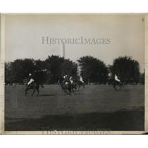1929 Press Photo Polo Match Bewtween 16th Field Artillery And The War Department