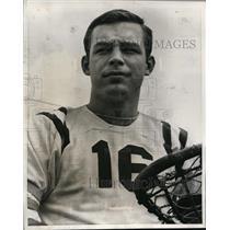 1966 Press Photo Allen MacPhail captain of Dickinson College lacrosse team