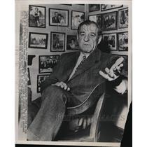 1952 Press Photo Washington Senators manager Bucky Harris in office - net28094