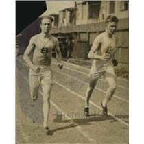 1914 Press Photo college track team members Drew and Maurer - net29187