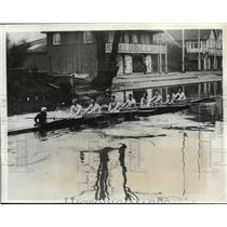 1931 Press Photo Cambridge University crew at practice on River Cam - net29684