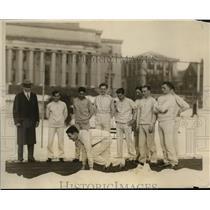 1926 Press Photo Columbia University track team & coach Memmer - net29781