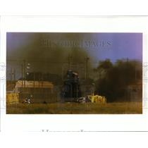 1994 Press Photo Portion of tail section-B-52 crash at Fairchild Air Force Base