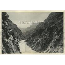1929 Press Photo Colorado-View of Bridge Canyon-proposed area of diversion dam.