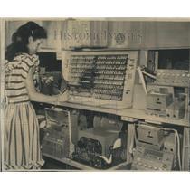 1947 Press Photo Push Button Telegraph Switchboard