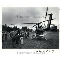 1983 Press Photo Emmanuel Hospital's new German Bolkow Twin Jet II helicopter
