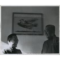 1956 Press Photo Two Christian Scholars Discussing Future Of Religion In Peking