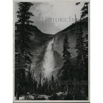1936 Press Photo Takkakaw Falls In Brittish Columbia Canada - mjx19322
