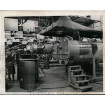 1940 Press Photo Fuselage Construction Section German Henschel Aircraft Factory