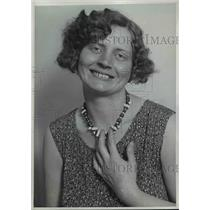 1930 Press Photo Irene Hunter, sister of the Hunter Brother endurance Flyer