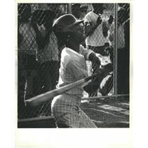 1982 Press Photo Cabrini Pony League Baseball Game