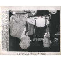 1955 Press Photo Jim Weatherall Edmonton Eskimos
