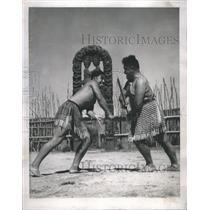 1947 Press Photo Taiaha Fight - RRR56653