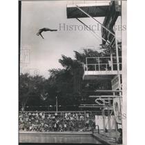 1962 Press Photo Patsy Wilard Dick Smith Swim Club