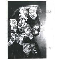 1990 Press Photo Cubs and White Sox Bows in Girls Hair