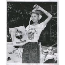 1950 Press Photo John Valenti is the Soap Box Champion