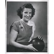 1949 Press Photo Ethel Stanna Bowler Ball