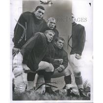 1960 Press Photo Detroit High school football players