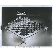 19725 Press Photo Chess Game Square Checkered Board
