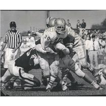 1969 Press Photo Bill Bell Makes Touchdown Deerfield