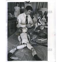 1973 Press Photo Doll Model Human Bieng Toy