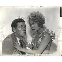1932 Press Photo Wynne gibson & George Bancroft