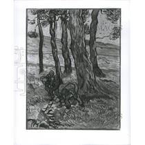 1969 Press Photo Van Siugh Deligious Tenhuell Tress Art