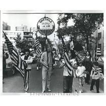Press Photo Oakdale Old Glory Marching Society Chicago